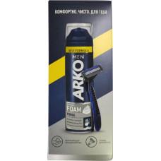 Подарочный набор для мужчин Arko (Арко) Men (Пена Force 200 мл + Станок System3)