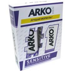 Подарочный набор для мужчин Arko (Арко) Men Sensitive (Пена для бритья 200 мл + Крем после бритья 50 мл)