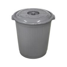 Бак пластмассовый для мусора с крышкой, h480 мм, d460 мм, 50 л