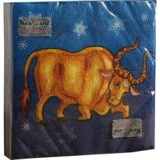 Салфетки сервировочные Fresco (Фреско) Золотой бык, 33х33 см, 20 шт