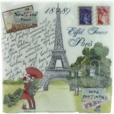 Салфетки сервировочные Fresco (Фреско) Париж, 33х33 см, 20 шт
