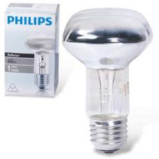 Лампа накаливания Philips (Филипс) Spot, зеркальная, 60 Вт, R63 E27 30D, колба d = 63 мм, E27, угол 30°