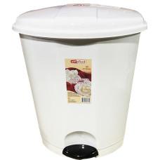 Ведро для мусора с педалью пластиковое, внутр/ведро, цвет белый, 27х26х32 см, 11 л