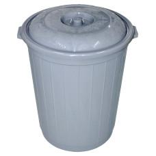 Бак для мусора пластмассовый с крышкой, 90 л