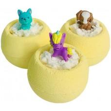 Бурлящие шарики для ванны Bomb Master Веселые зверята, цвет желтый, 130 г