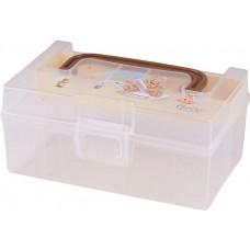 Контейнер-аптечка пластиковый детский Polly, с вкладышем, с зажимами, 17х11х8 см, 0,8 л