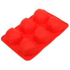 Форма силиконовая для выпекания Яблоко на 6 штук, цвета микс, 26х17 см, h4 см