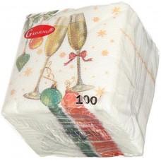 Салфетки сервировочные Гармония Шампанское, 100 шт