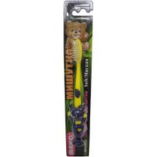 Детская зубная щетка Мишутка, 2-х компонентная ручка, с присоской, мягкая