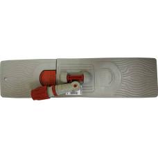 Держатель мопа пластиковый, цвет серый, 50 см
