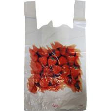 Пакет майка ПВД Клубника, 2-х слойная, 30х57 см