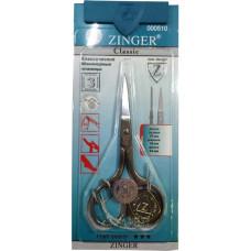 Ножницы маникюрные для ногтей Zinger (Зингер) с ручной заточкой, серебряные, zo B-105-S-SH