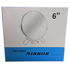Зеркало железное круглое №6, 2-х стороннее