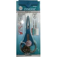 Ножницы маникюрные для кутикулы Zinger (Зингер) с ручной заточкой, матовые, zo B-118-D-SH