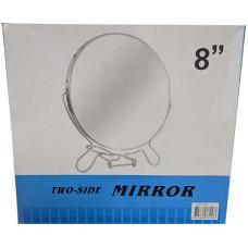 Зеркало железное круглое №8, 2-х стороннее