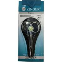 Ножницы маникюрные для кутикулы Zinger (Зингер) с ручной заточкой, серебряные, тонкие, zo B-118-S-SH