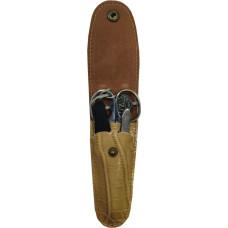 Набор маникюрный дорожный Zinger (Зингер): пилка металлическая, ножницы, пинцет, MS-MS-Z3-S-PVC