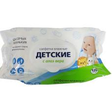 Детские влажные салфетки Светофор с Алоэ, 120 шт
