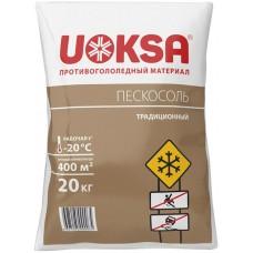 Противогололедный материал Uoksa (Уокса) Пескосоль, -20°, 20 кг
