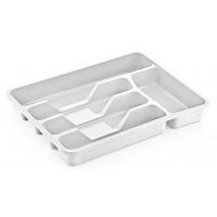 Лоток для столовых приборов пластиковый, цвет белый, 34х27х5 см