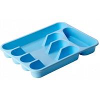 Лоток для столовых приборов пластиковый, цвет голубой, 33х26х4,8 см