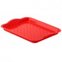 Поднос пластиковый Универсальный, цвет красный, 29х25 см