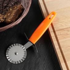 Нож для пиццы и теста ребристый Оранж, 19 см