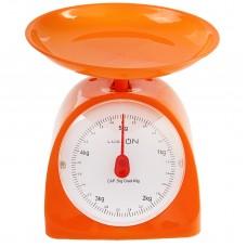 Весы кухонные LuazON LVKM-502, механические, оранжевые, до 5 кг, чаша 200 мл