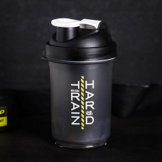 Шейкер пластиковый спортивный Train Hard «Будь смелым», с чашей под протеин, 500 мл