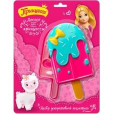 Детский набор Десерт для принцессы: тени для век 3 шт, блеск для губ 2 шт, спонж 1 шт, помада 1 шт
