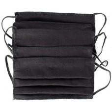Маска текстильная защитная многоразовая, прямоугольная, цвет черный