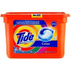 Гель для стирки в растворимых капсулах автомат Tide (Тайд) Color, 15 шт*22,8 г