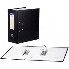 Папка-регистратор с двумя арочными механизмами, покрытие ПВХ, цвет черный, до 800 листов, 125 мм