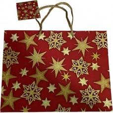 Пакет новогодний подарочный бумажный Antella (Антелла) Горизонт, 22,9х17,8х9,8 см