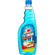Жидкость для мытья стекол и зеркал (сменный блок) Золушка Чистые окна Нашатырный спирт, 0,5 л  *12