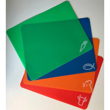 Доска разделочная пластиковая прямоугольная, гибкая, 34х27 см, набор 4 шт