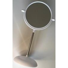 Зеркало настольное круглое, пластик, h34 см, d15 см