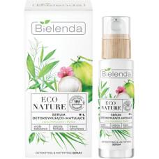 Cыворотка детоксифицирующая матирующая Bielenda Eco Nature, Кокосовая вода + Зеленый чай + Лемонграсс, 30 мл
