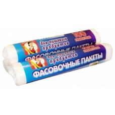Пакет пищевой фасовочный в рулоне Экономка, 24х37 см, 100 шт в рулоне