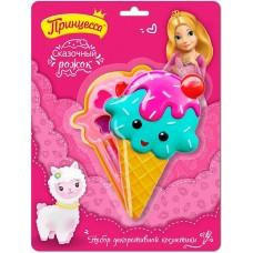 Детский подарочный набор Принцесса Сказочный рожок: тени для век, блеск для губ, губная помада, спонж