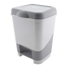 Ведро для мусора пластиковое, с педалью, 32х32х43 см, 20 л
