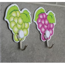 Набор крючков на липучке Виноград, цвета микс, 2 шт