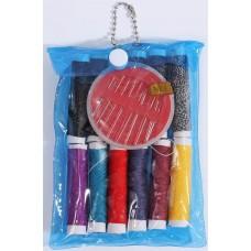 Набор для шитья в сумочке, цвета микс: ники + иголки