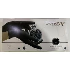 Перчатки из термопластичного эластомера Benovy (Бенови), черные, размер L, 100 пар