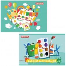 Альбом для рисования Пифагор Карандаши и краски, скоба, обложка офсет, А4, 200х285 мм, 12 листов