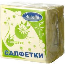 Cалфетки бумажные Antella (Антелла), 1-х слойные, цвет жёлтый, 24х24 см, 100 шт