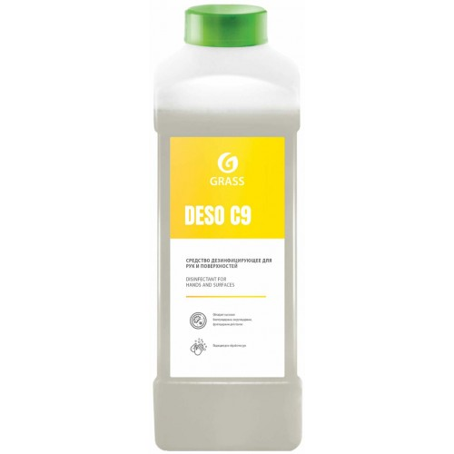 Антисептик для рук и поверхностей Grass Deso C9, спирт 70%, дезинфицирующий, 1 л