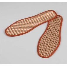 Стельки для обуви текстильные, окантовка, пара, цвет коричневый, 36 размер