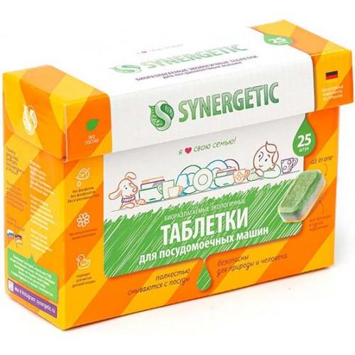 Таблетки бесфосфатные для ПММ Synergetic, 25 таблеток