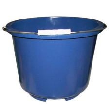 Ведро строительное пластиковое, круглое, металлическая ручка, цвета микс, д30 см, h25 см, 14 л